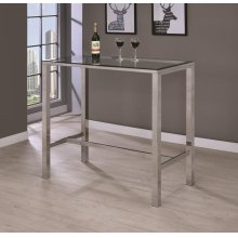 Contemporary Glass Bar Table