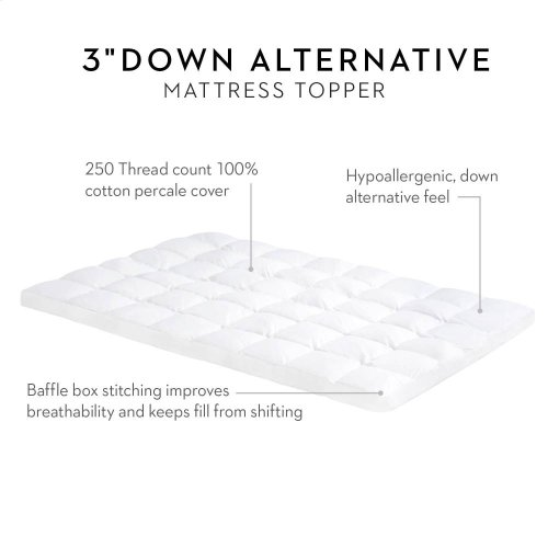 "3"" Down Alternative Mattress Topper - King"