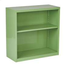 Metal Bookcase In Green Finish, Ships Fully Assembled.