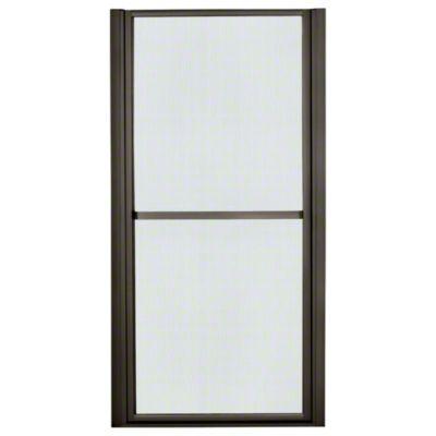 """Finesse™ Hinge Shower Door - Height 65-1/2"""", Max. Opening 36"""" - Deep Bronze with Rain Glass Texture"""
