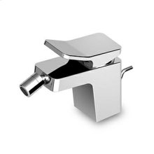 "Single lever bidet mixer with aerator, 1 1/4"" pop-up waste, flexible tails."