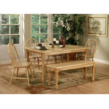 Damen Traditional Natural Brown Five-piece Dining Set