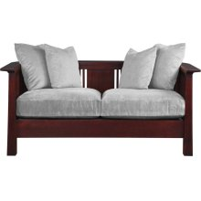 Cherry, Scatter Back Loveseat Park Slope Loveseat