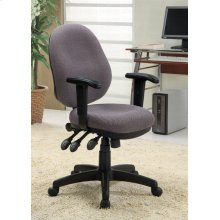 "OFFICE CHAIR ,GREY 25-3/4""Dx25-3/4""Wx37-3/4"