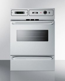 "Stainless Steel 220v Electric Wall Oven With Digital Clock/timer and Oven Window; for Cutouts 22 3/8"" Wide By 34 1/8"" High, With Stainless Steel Manifold"