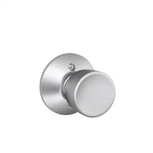 Bell Knob Non-turning Lock - Satin Chrome