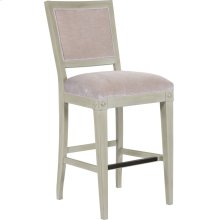 Trouvais Upholstered Back Bar Stool