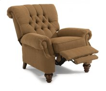 Equestrian Fabric High-Leg Recliner