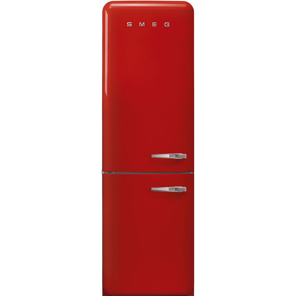 "Smeg'50s Style No Frost' Fridge-Freezer, Red, Left Hand Hinge, 60 Cm (Approx 24"")"