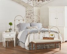 French Inspired Bedroom With Rosette Iron Bed