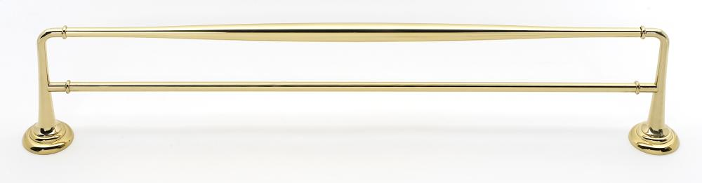 Charlie's Collection Double Towel Bar A6725-24 - Polished Brass