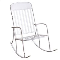 Distressed White Rocking Chair. Product Image