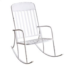 Distressed White Rocking Chair.