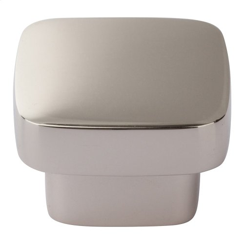 Chunky Square Knob Large 1 13/16 Inch - Polished Nickel
