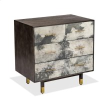 Sierra 3-Drawer Bedside Chest - Grey Vellum