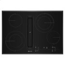 """Black Floating Glass 30"""" JX3 Electric Downdraft Cooktop with Glass-Touch Electronic Controls Product Image"""