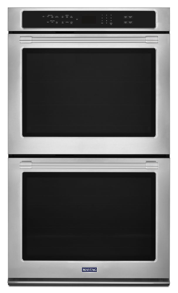 Maytag 30 Inch Wide Double Wall Oven With True Convection   10.0 Cu. Ft.