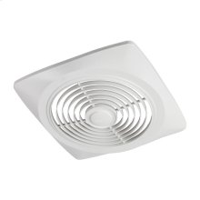 """8"""" 160 CFM Side Discharge Fan, White Square Plastic Grille"""
