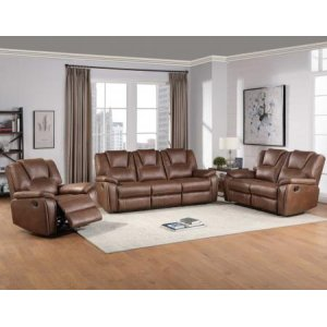 Steve Silver Co.Katrine 3-Piece Manual Reclining Set, Brown (Sofa, Loveseat & Chair)