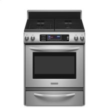 True Convection Oven Frameless Cooktop Full-Width Cast-Iron Grates Architect® Series II - Stainless Steel