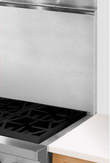 "22"" Stainless Steel Backsplash With Shelf"
