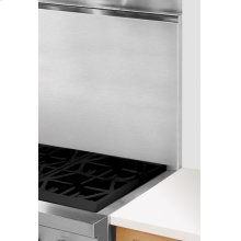 "22"" Stainless Steel Backsplash With Shelf"