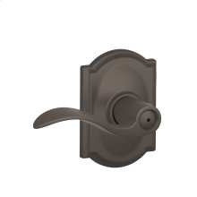 Accent Lever with Camelot trim Bed & Bath Lock - Oil Rubbed Bronze
