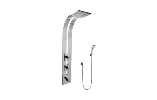 Square Thermostatic Ski Shower Set w/Handshowers (Rough & Trim)
