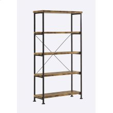Barritt Industrial Antique Nutmeg Bookcase