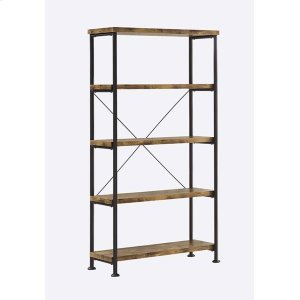 CoasterBarritt Industrial Antique Nutmeg Bookcase