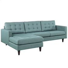 Empress Left-Facing Upholstered Fabric Sectional Sofa in Laguna
