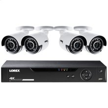 8-Channel 4K HD 1TB DVR with Four 4K Bullet Security Cameras