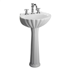 Bali Pedestal Lavatory - White - White Product Image