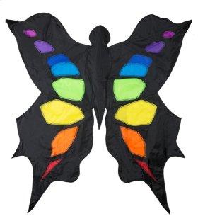 Black & Rainbow 3D Butterfly Kite.