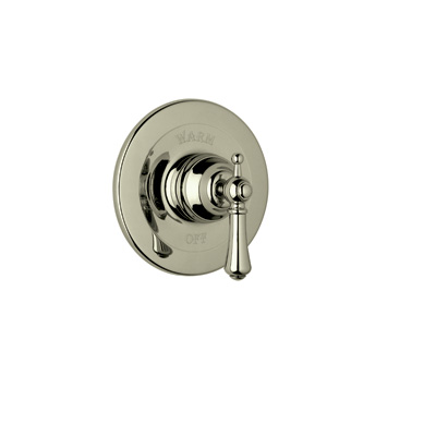 Satin Nickel Perrin & Rowe® Georgian Era Pressure Balance Trim Without Diverter with Georgian Era Style Solid Metal Lever