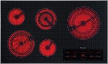 "36"" 5-Burner KM 5860 Electric Cooktop - Ceran® Glass Electric Cooktop (240V)"
