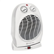 CZ50 Radiant Electric Wire Element Personal Fan Forced Heater, White