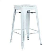 "Bristow 26"" Antique Metal Barstools, Antique White, 2-pack"