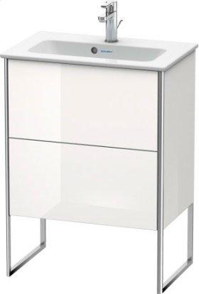Vanity Unit Floorstanding Compact, White High Gloss (decor)