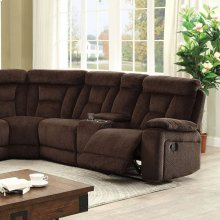 Maybell Sectional W/ 2 Consoles, Brown
