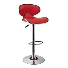 Red Adjustable PU Barstool