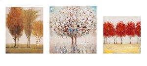 Miniature Tree Gallery Art - Set of 3
