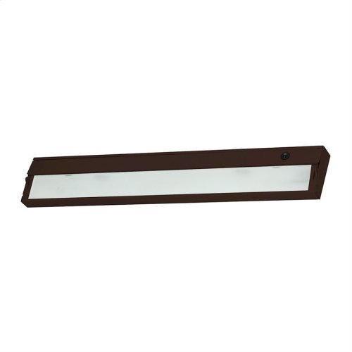 ZeeLite 3-Light Under-cabinet Light in Bronze with Diffused Glass