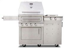 K500HS Hybrid Fire Freestanding Grill with Side Burner