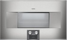 """400 series Combi-steam oven BS 484 611 Stainless steel-backed full glass door Width 30"""" (76 cm) Right-hinged"""