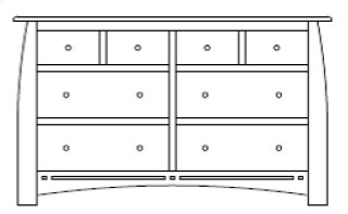 "Hayworth 8 Drawer 66"" Dresser"