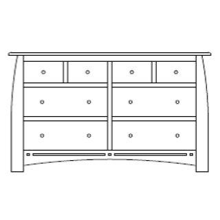 "Hayworth 8 Drawer 66"" Dresser"