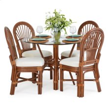 5500 Series 5 Piece Rattan Dining Set Pecan Glaze