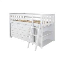 Twin Loft   Dresser   Bookcase White