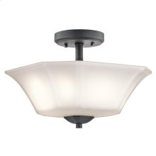 Serina Collection Serina 2 Light Semi Flush in Black